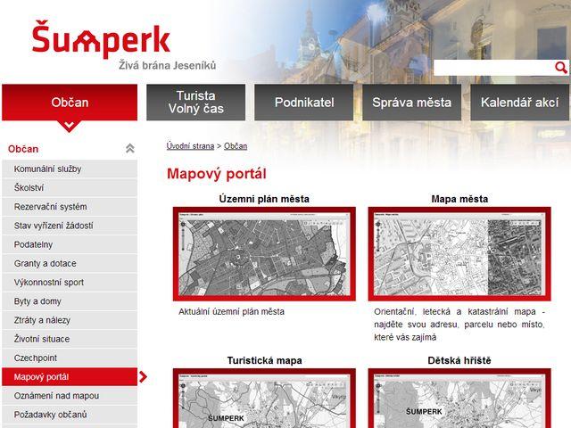 Mapový portál města Šumperk